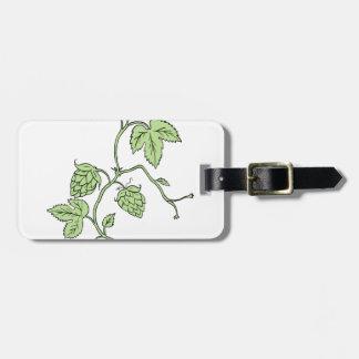 Hop Plant Climbing Drawing Luggage Tag