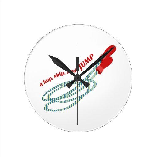 Hop Skip Jump Round Wall Clock