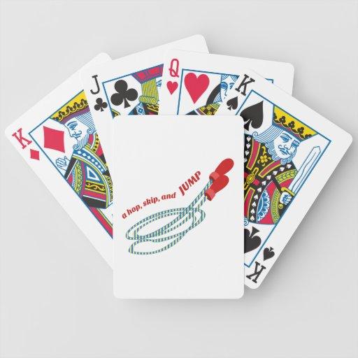 Hop Skip Jump Bicycle Poker Cards