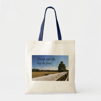 Hop the Fence Budget Tote Bag