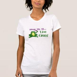 Hop to it Live Green - Hoppy Frog Tee