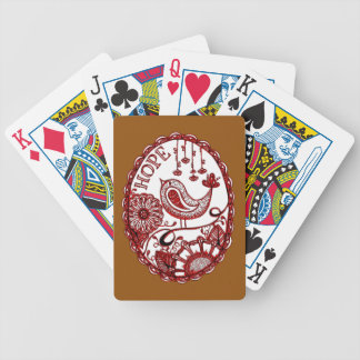 Hope 2 1 bicycle playing cards