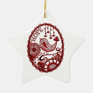 Hope 2 1 ceramic ornament