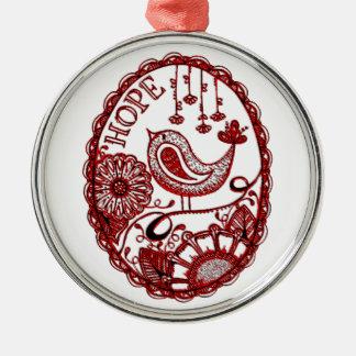 Hope 2 1 metal ornament