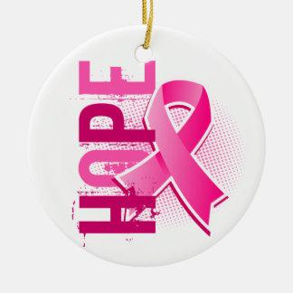 Hope 2 Breast Cancer Round Ceramic Decoration