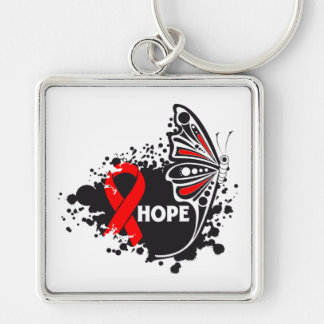 Hope AIDS HIV Butterfly Key Chains