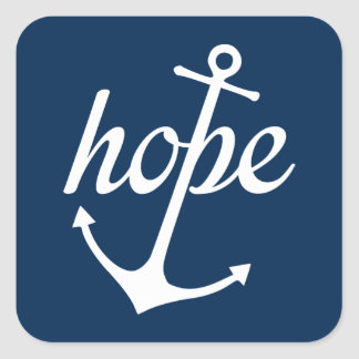 Hope Anchors The Soul (Hebrews 6:19) Square Sticker