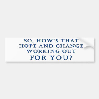 """Hope"" and ""Change"" Anti Obama Bumper Sticker"