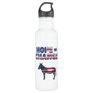 Hope and Change Democrat Donkey Water Bottle