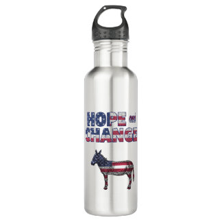 Hope and Change Democrat Donkey Water Bottle