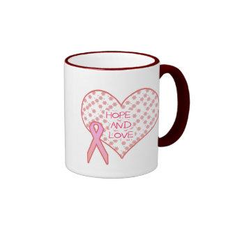 Hope and Love Ringer Coffee Mug