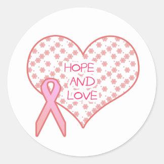 Hope and Love Round Sticker