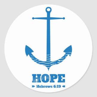 Hope as an Anchor Round Sticker