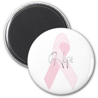 Hope Breast Cancer 6 Cm Round Magnet