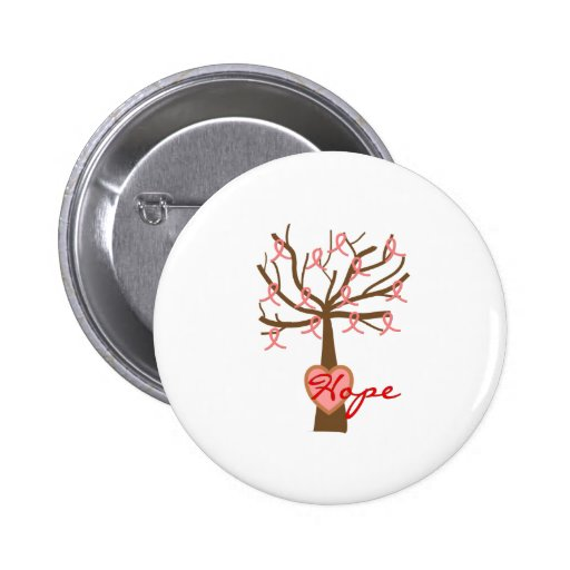 """""""Hope"""", Breast Cancer Awareness Gifts Button"""