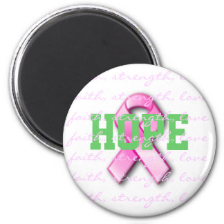 Hope Breast Cancer Pink Ribbon Magnet
