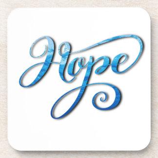 HOPE BRUSH LETTERING CALLIGRAPHY COASTER