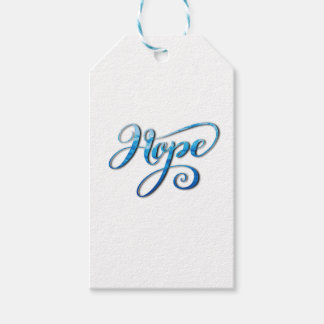HOPE BRUSH LETTERING CALLIGRAPHY GIFT TAGS