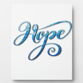 HOPE BRUSH LETTERING CALLIGRAPHY PLAQUE