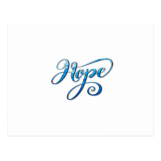 HOPE BRUSH LETTERING CALLIGRAPHY POSTCARD