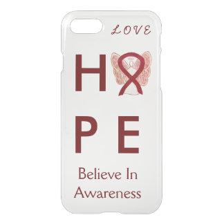 Hope Burgundy Awareness Ribbon iPhone 7 Case