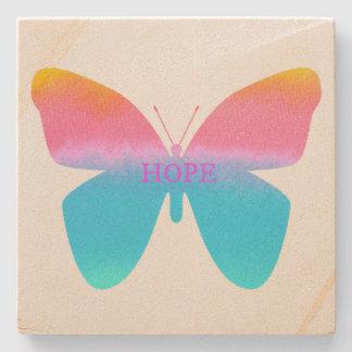Hope Butterfly Sandstone Coaster Stone Beverage Coaster