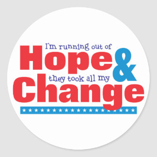 Hope & Change Classic Round Sticker