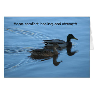 Hope, comfort, healing, and strength greeting card