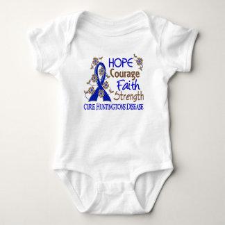 Hope Courage Faith Strength 3 Huntington's Disease Tee Shirts