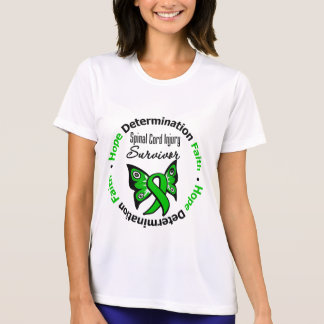 Hope Determination Faith Spinal Cord Injury T-shirts