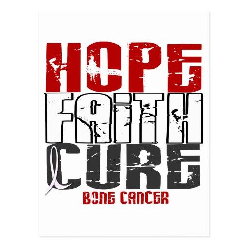 HOPE FAITH CURE BONE CANCER POST CARDS