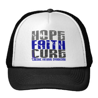 Hope Faith Cure CFS Chronic Fatigue Syndrome Mesh Hats