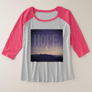 Hope Faith & Luck Plus Shirt