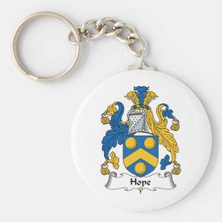Hope Family Crest Key Ring
