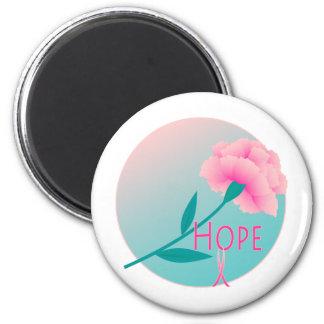 Hope Flower 6 Cm Round Magnet