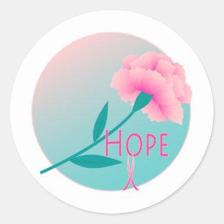 Hope Flower Round Sticker