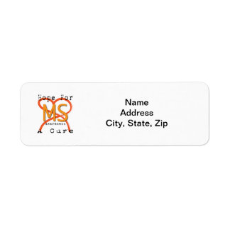 Hope For A Cure - MS Awareness Return Address Label