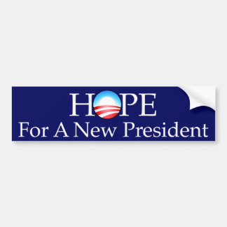 Hope For a New President Bumper Sticker