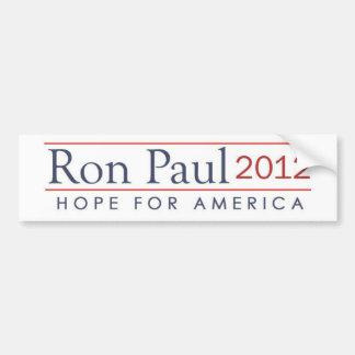 hope for America Ron Paul 2012 Bumper Sticker