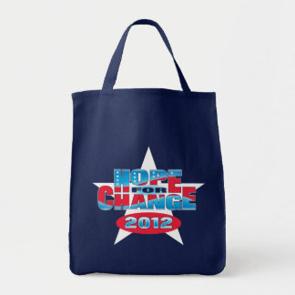 Hope for Change 2012 Grocery Tote Bag