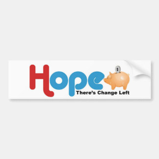 Hope for Change Car Bumper Sticker