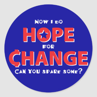 Hope for Change Classic Round Sticker