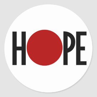 Hope for Japan Classic Round Sticker