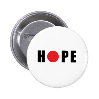 Hope for Japan - Earthquake & Tsunami Victims 6 Cm Round Badge