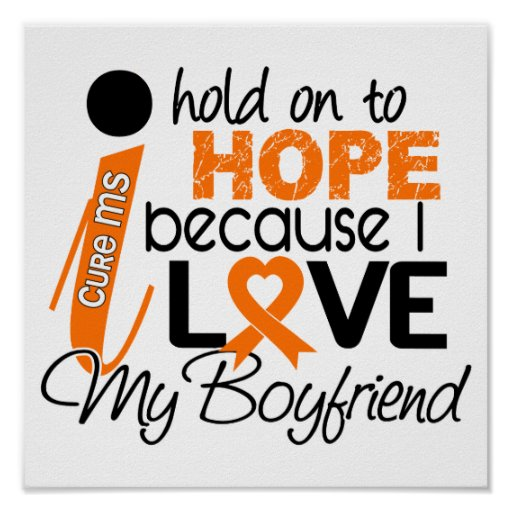 Hope For My Boyfriend Multiple Sclerosis MS Print