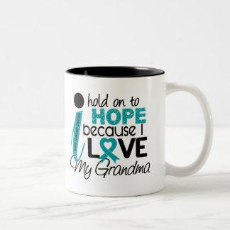 Hope For My Grandma Ovarian Cancer Two-Tone Mug