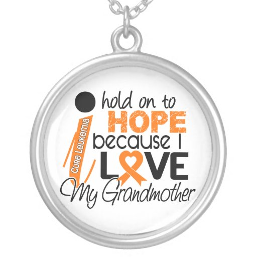 Hope For My Grandmother Leukemia Necklaces