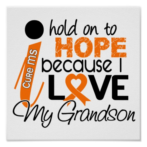 Hope For My Grandson Multiple Sclerosis MS Print