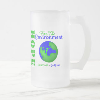Hope For The Environment Save Earth Go Green Frosted Glass Mug