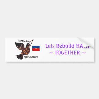 Hope for the people of Haiti - Flag Bumper Sticker